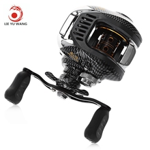 LIE YU WANG LA Water Drop Wheel 12 + 1 BBs 6.3 : 1 Right Left Hand Baitcasting Reel Magnetic Bait Casting Reels Fishing Reel