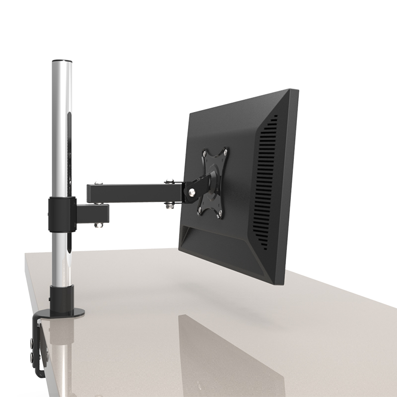 13-24 LCD Screen Desktop TV Mount Monitor Holder Stainless Steel Rotary Lifting Retractable Table Clamping Mount