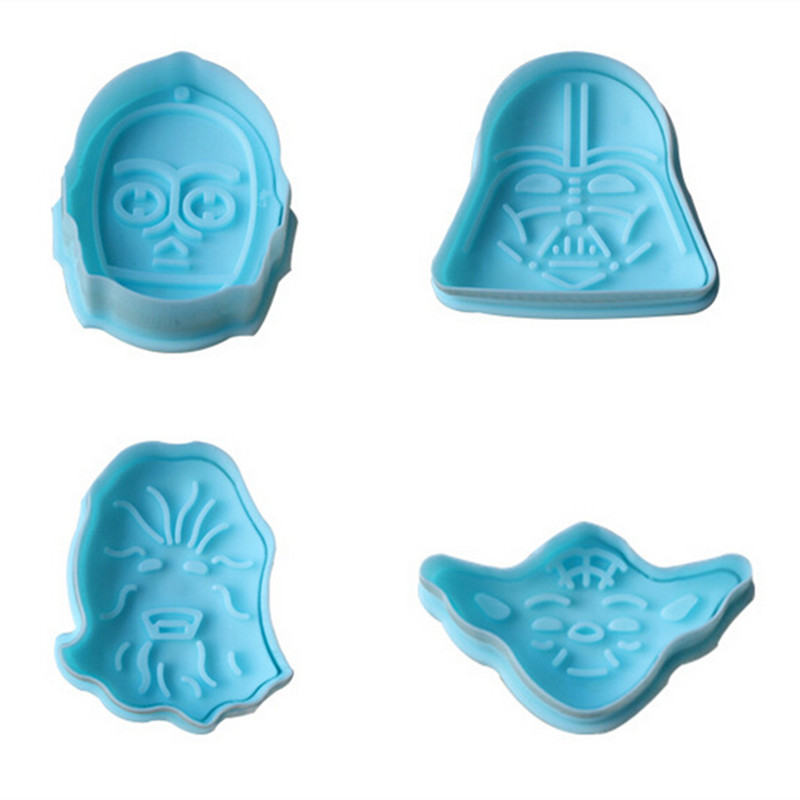 Star Wars Character Shaped Fondant Decorating Pastry Cookie Mold And Cutter Tools 3