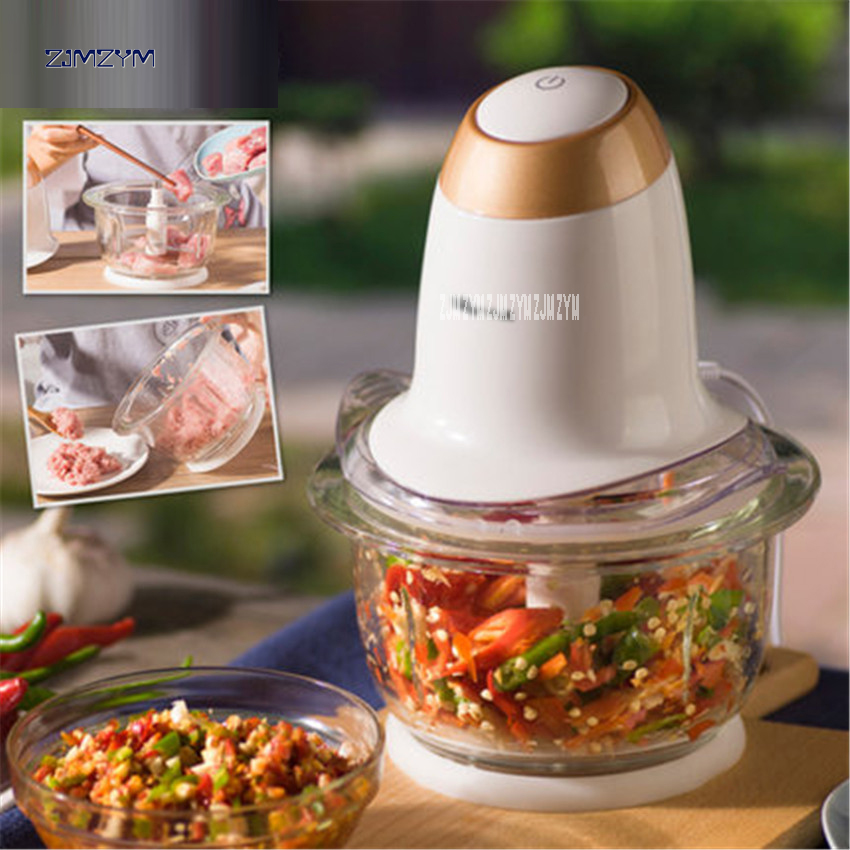QSJ-A02A1 Multi-function Kitchen Electric Automatic Meat Grinder 200W Household Vegetable Fruit Mincer 1.2L Capacity 220V/50Hz multi function electric stainless steel household commercial food meat grinder 220v