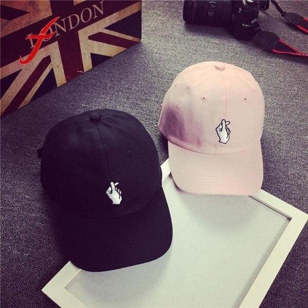 קיץ Mens כובע חדש מ לב הדפסת בת יוניסקס נשים גברים כובעי בייסבול כובע Snapback מקרית מתכוונן היפ הופ אצבע שמש כובעים