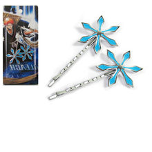 Bleach Anime Cosplay Costume Inoue Orihime hexagon snow Hairpin Hair Clip 1 pair(China)