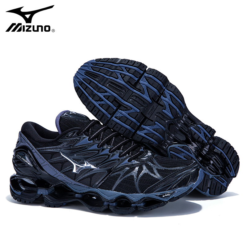 Mizuno Wave Prophecy 7 Professional Men Shoes Mizuno Running Shoes Ventilation Running Shoes Sport Sneakers Weightlifting Shoes цена