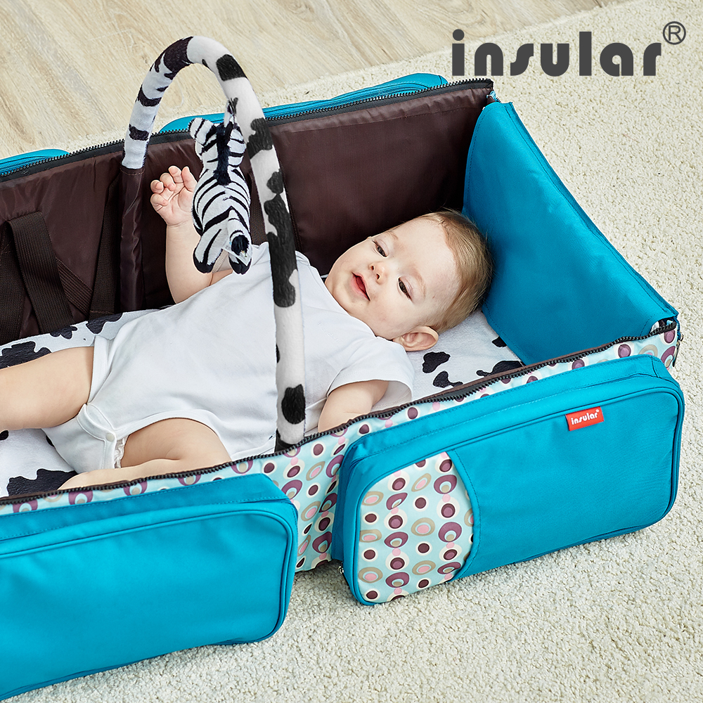 Multifunction Waterproof Portable Travel Bed Baby Cribs Changing Diapers Foldable Mummy Shoulder Bag Large Capacity Nappy Bags