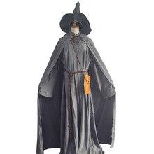 Gandalf Wizard Cosplay Halloween Costume Custom with hat