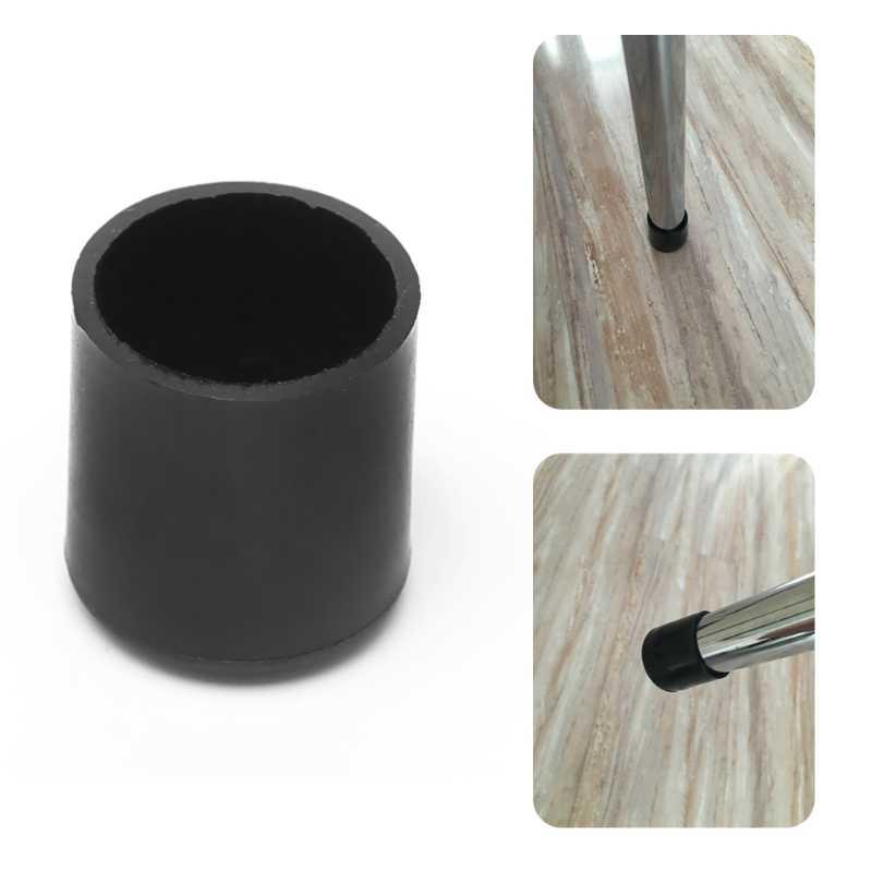 4x gumowe krzesło Ferrule odporne na zadrapania nóżki do mebli ochraniacz na podłogę nogi