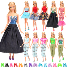 New Fashion 15 Items/lot doll accessories=5 doll dresses Random+10 Doll Shoes our generation doll clothes for barbie dollS 2pcs lot doll stand display holder for barbie dolls doll accessories doll support leg holders transparent