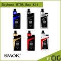 100% original smok skyhook rdta mod caixa kit 220 w com 9 ml grande capacidade powered by dupla 18650 baterias