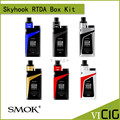 100% original smok skyhook rdta mod kit 220 w con 9 ml gran capacidad powered by dual 18650 baterías