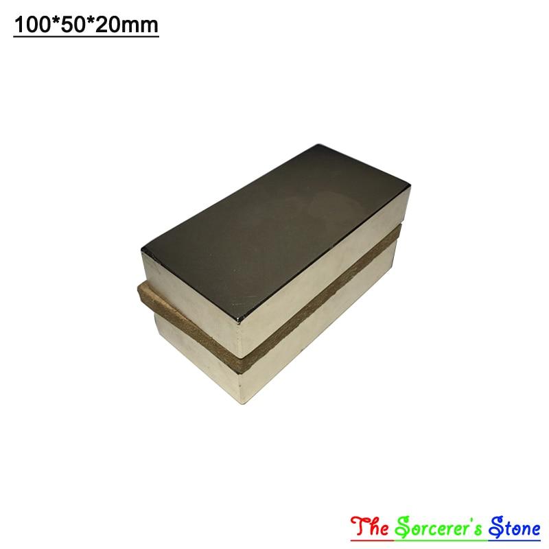 1pcs Super Strong 100x50x20mm Rare Earth Neodymium Block Magnet Free Shipping free shipping sop32 wide body test seat ots 32 1 27 16 soic32 burn block programming block adapter
