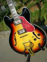 Trou de F gros electrique ES335 guitare jazz wippe couleur de guitare electrique peut etre personnalae sac-cadeaus