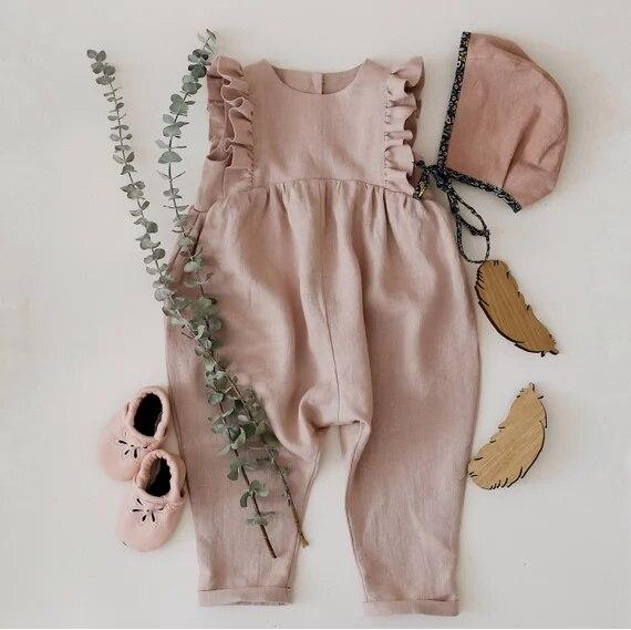 Wholesale Cotton Aurumn Baby Girl   Romper   Ruffles Kids Jumpsuits 81TP0622