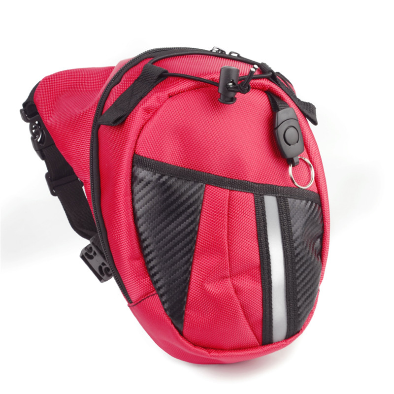Wholesale Hot Red Motocross Drop Leg Bag Motorcycle Riding Bag Knight Waist Bag Outdoor Multifunctional Bag Custom LOGO