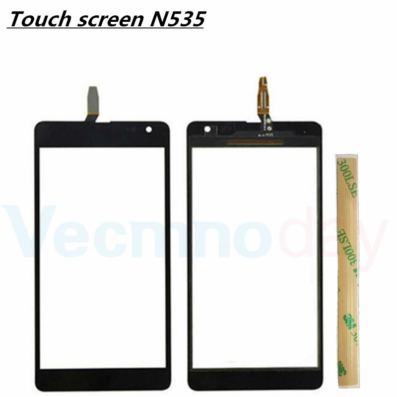For Nokia Microsoft Lumia 535 N535 CT2S1973 CT2C1607 Touchscreen Front Glass Lens Cover Digitizer Repair Parts