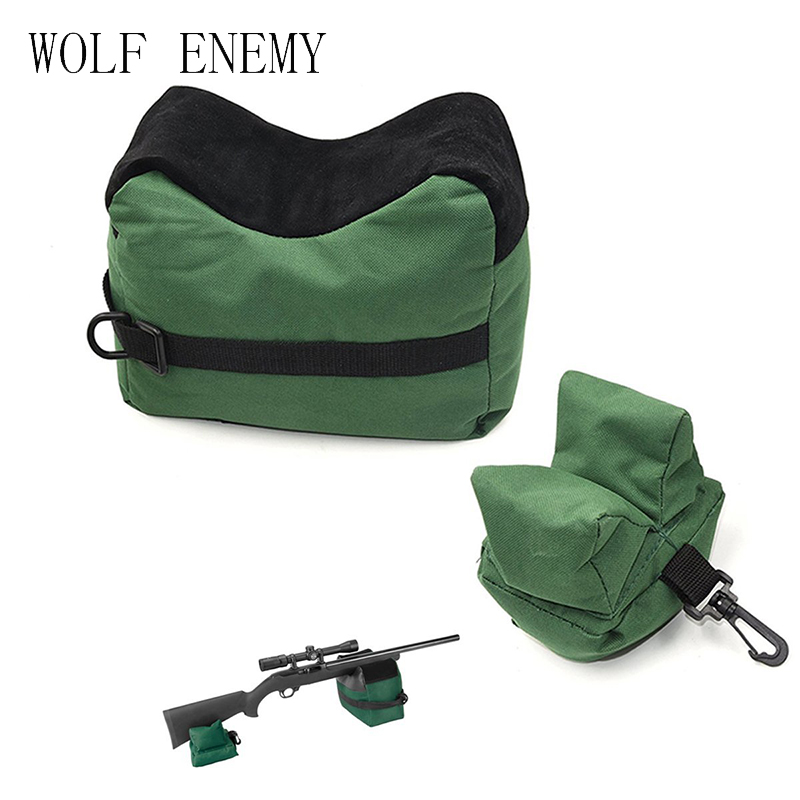 Shooting Rear Gun Rest Bag Set Portable Front & Rear Rifle Target Tactical Bench Unfilled Stand Hunting Gun Accessories