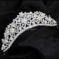 Austrian crystal tiara crown hair jewelry bridal wedding hair accessories silver jewelry for hair tiaras and crowns noiva 1024