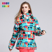 2016 Gsousnow ski jacket ladies women girls female brands outdoor windproof waterproof breathable free shipping super deal