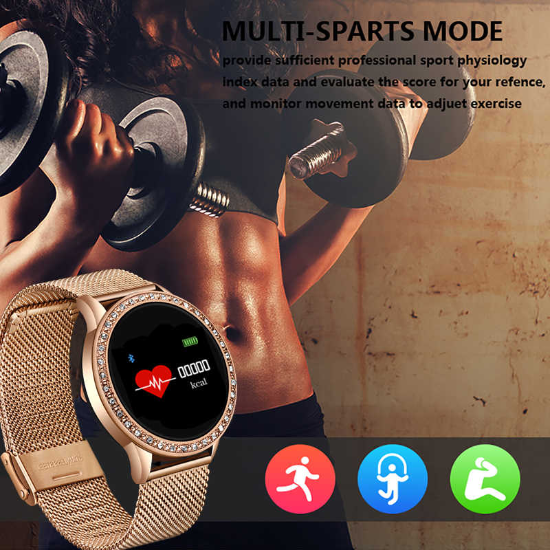 Smart Watch Women Waterproof Smartwatch With Heart Rate Monitor Blood Pressure Fitness Bracelet For iPhone iOS Android Watches