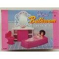 Миниатюрный розовый Набор для ванной комнаты , игрушки для кукольного домика