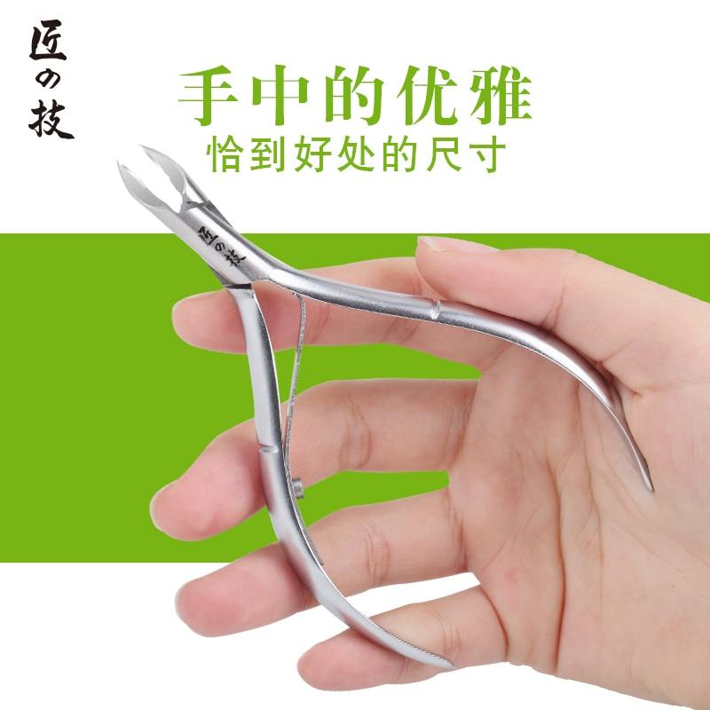 Dead skin scissors peeling plier nail art exfoliating tool corneous muleshoe professional nail clipper 3 in 1 exfoliating foot dead skin knife tool orange silver