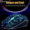 Boa venda Professional Rato Colorido Backlight 4000 DPI Óptico Com Fio Gaming Mouse Mouse Óptico USB 2.0