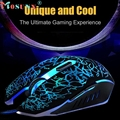 Good sale Professional Mouse Colorful Backlight 4000DPI Optical Wired Gaming Mouse Mice Optical USB 2.0