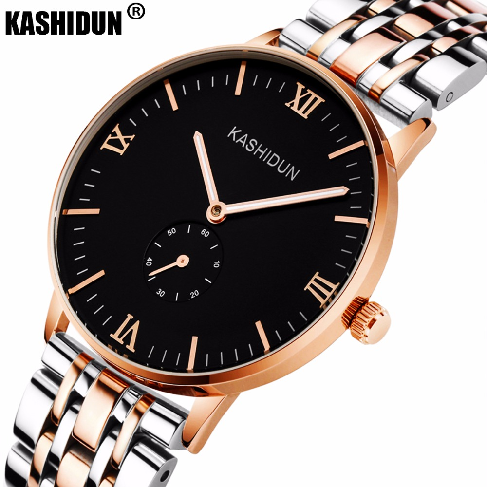 KASHIDUN Lover s Watches Easy Read Simple Luxury Military Casual Dress Wrist watches Fashion Waterproof Watch