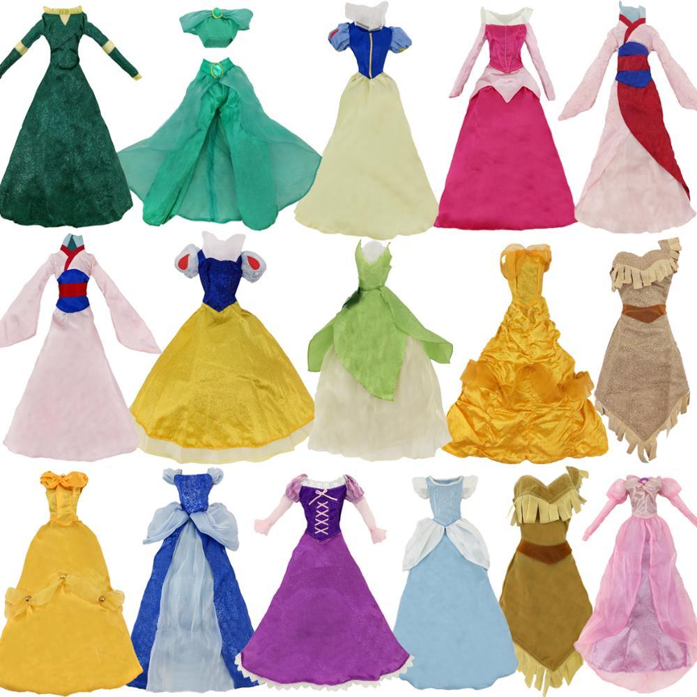 Fiaba Vestito Della Principessa abito di Sfera Classic Accessori di Abbigliamento Per 17 Bambola Regalo Di Natale Bella Biancaneve Cenerentola AuroraFiaba Vestito Della Principessa abito di Sfera Classic Accessori di Abbigliamento Per 17 Bambola Regalo Di Natale Bella Biancaneve Cenerentola Aurora