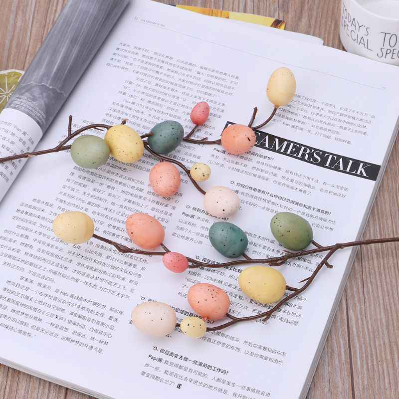 Easter Egg Tree Decor Creative Branch With Painting Eggs Plastic Spring Party Supplies