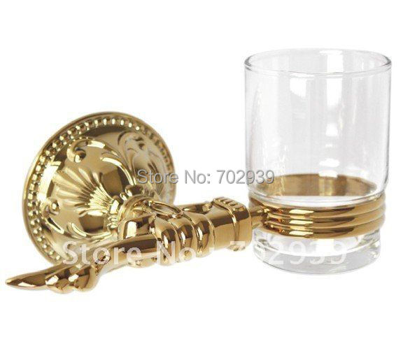 FREE SHIPPING new design 24k GOLD single cup and tumbler holder free shipping new design 24k gold crystal single cup and tumbler holder