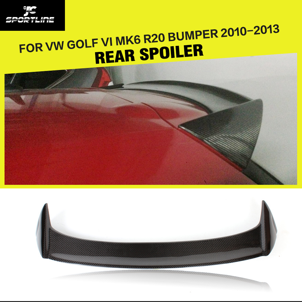 цена на Car Style Carbon Fiber / FRP Roof Spoiler Rear Wing Lip for Volkswagen VW Scirocco 2010 - 2012