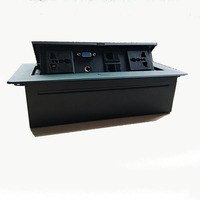 Pop up Smart plug Desktop Office socke tjunction box aluminium alloy socket panel With MIC network VGA exetension socket