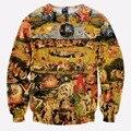 2016 Brand Clothing Hoodies Men 3D Sweatshirt Hip Hop Casual Jumpers Print Garden of Eden Harajuku Funny Pullover Sweatshirt
