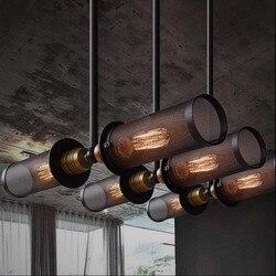 Dwustronnie RH Loft stylu przemysłowe Bar lampa wisząca podwójna metalowe etui restauracja światła Cafe dekoracji ściany światła darmowa wysyłka