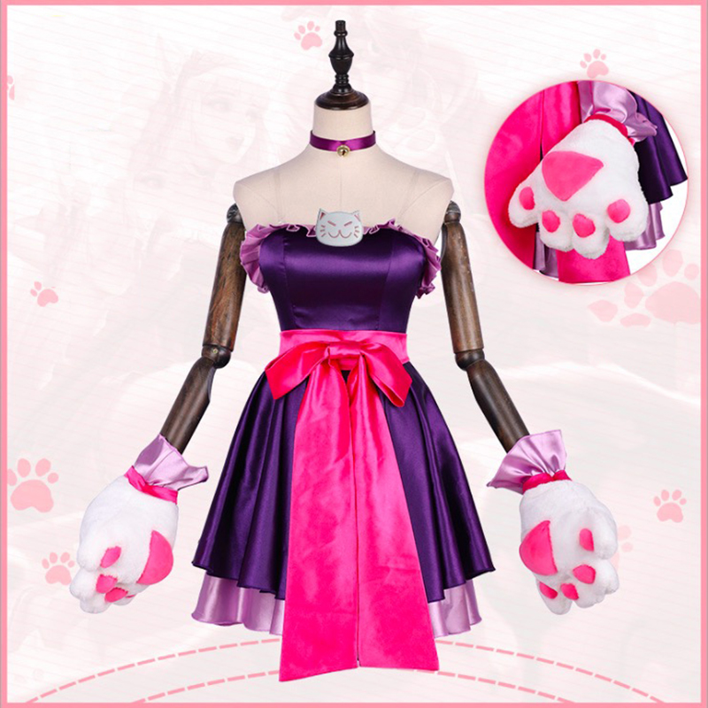 Game Arena Of Valor 5v5 Arena Game Cosplay Costumes Da Qiao Cat Cosplay Dress Costume Halloween Party Women Cosplay Customized