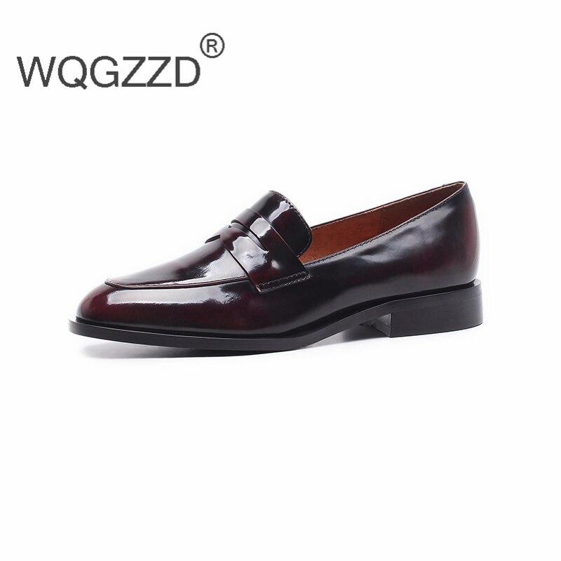 Casuales Oxford Cuero Planos 2 Chaussures Genuino Mocasines color Primavera Femme De Nuevos Zapatos Mujer 2019 Las Mujeres Color 1 7xSH4Fq