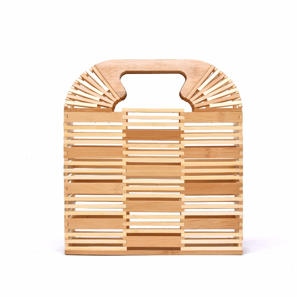 Women Handbag Bamboo Bag Female Small Travel Vacation Totes For Ladies Handmade Woven Straw Beach Bag Summer Women's Purse women s handbags female travel vacation round tote bamboo handbag for ladies handmade woven straw beach bag summer women s purse
