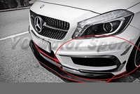 Car Accessories Carbon Fiber RZ RZA 290 Style Front Bumper Canards 6pcs Fit For 2012 2014 MB A Class W176 A250 A45 Front Canard