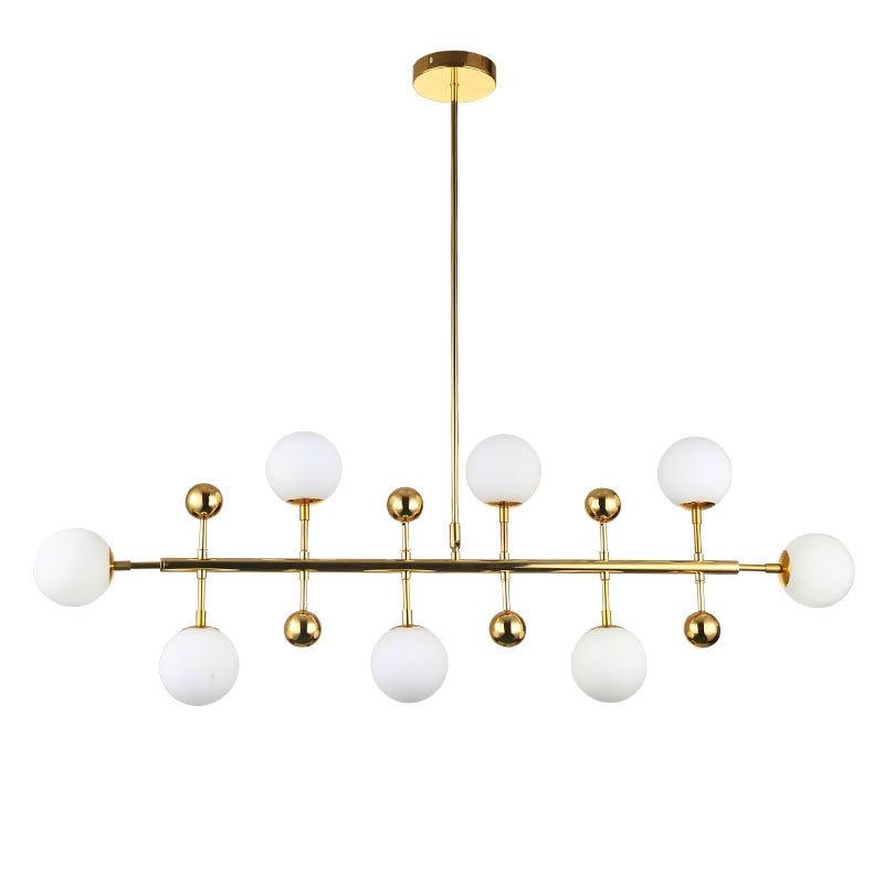 Gold/black Magic Bean Led Pendant Lights For Dinning Vintage Loft Industrial Glass Ball Hanging Light Retro Glass Pendant Lamp Ceiling Lights & Fans