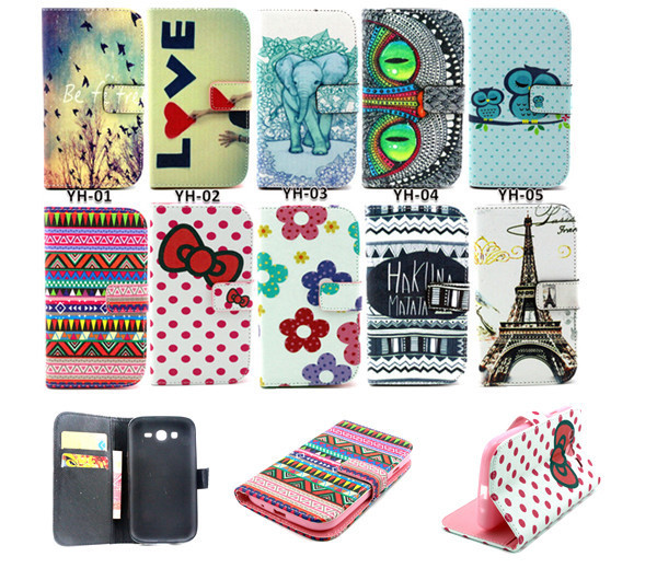 Luxury Genuine Leather Flip Case For Samsung Galaxy Grand Neo duos i9060