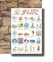 Art Poster New My ABC Alphabet Yoga Pose Learning Table Kids Children Light Canvas Wall 14x21