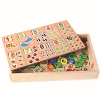 Children Wooden Montessori Materials Learning To Count Numbers Matching Early Education Teaching Math Toys