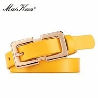 Women S Genuine Leather Belts Skinny Candy Color Waist Belt Lady S Fashion Waist Strap