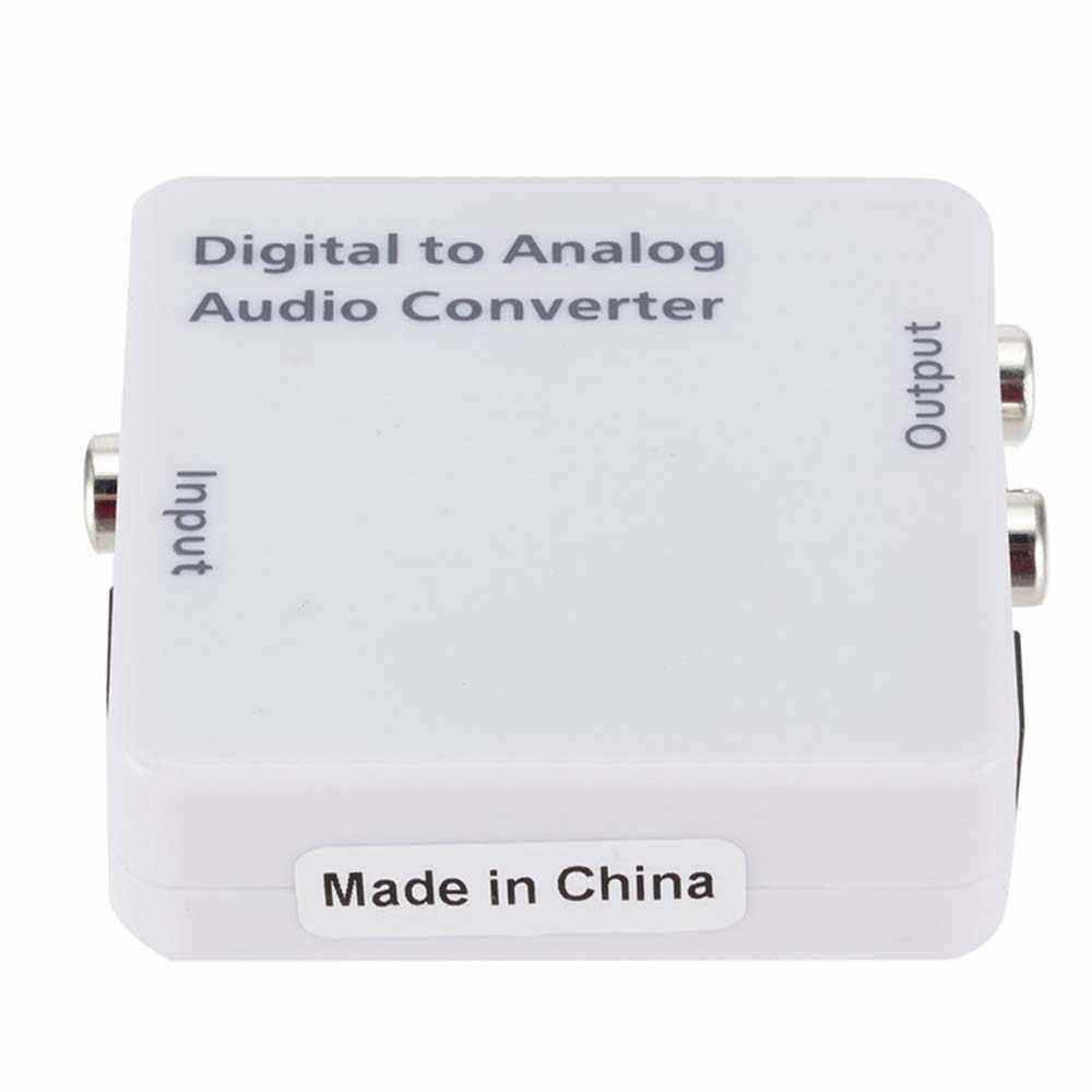 YuBeter Amplificador Decoder DAC Coaxial Óptico Digital para Analógico Conversor De Áudio SPDIF Toslink Sinal Analógico De Áudio RCA L/ R Saída