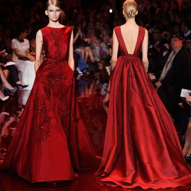 Robe de soiree rouge fonce