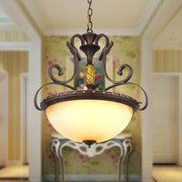 American Retro Antique Bedroom Balcony Ceiling Light Study Aisle Hotel Project Lighting Iron Ceiling Lamp