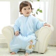 Baby Sleeping Bag Winter Envelope For Newborns Sleep Thermal Sack Cotton kids 0-4T