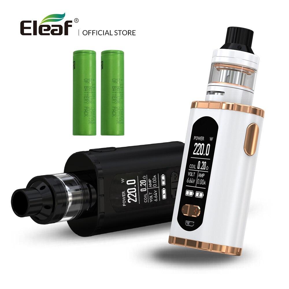 Originale Eleaf Richiamare con ELLO T kit 220 w più grande Schermo da 1.3 pollici con 18650 batteria vape kit elettronico sigaretta
