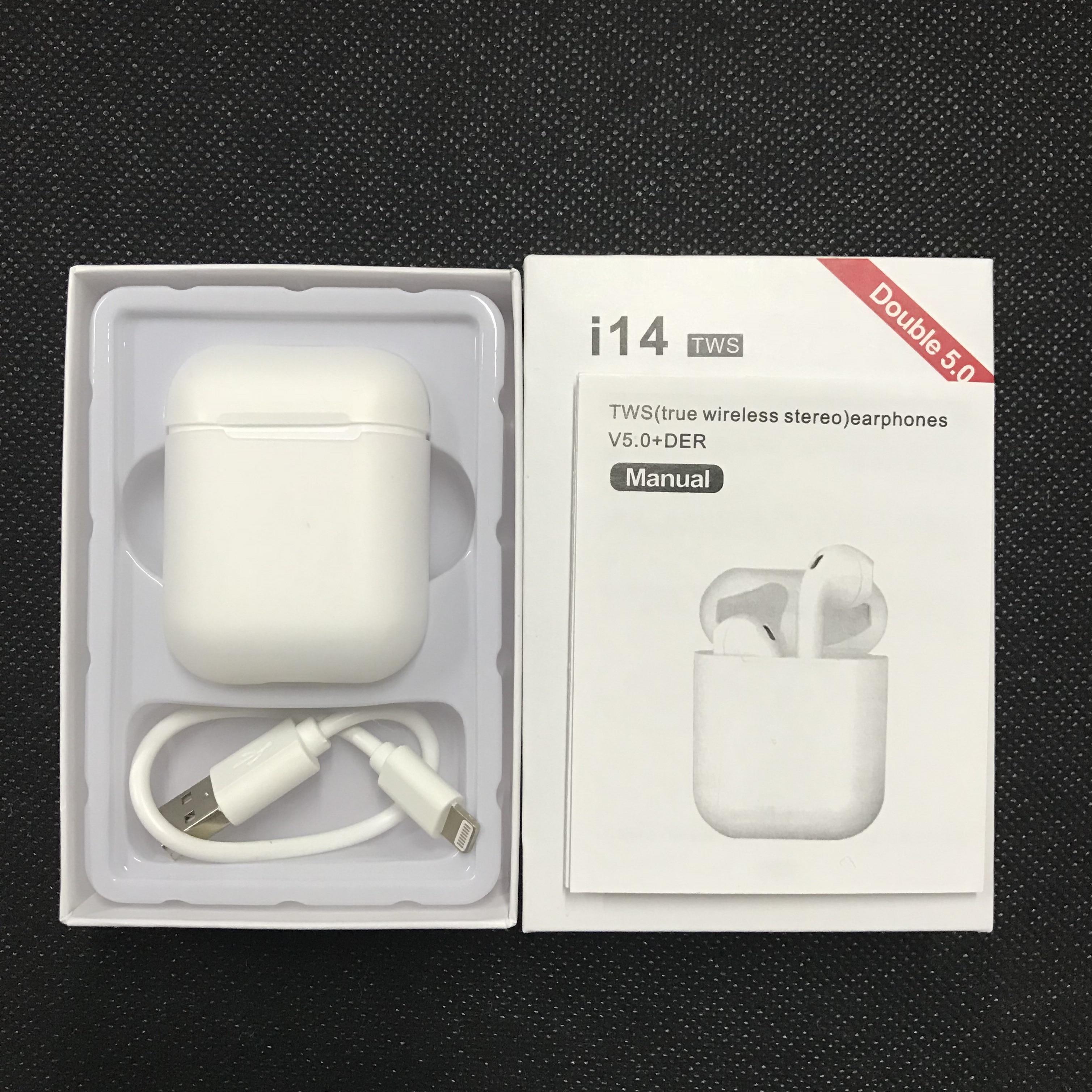 I14 СПЦ беспроводные наушники Bluetooth 50 сенсорное управление 3D объемный звук для iphone huawei смартфоны Xiaomi PK i10 i15 СПЦ купить на AliExpress