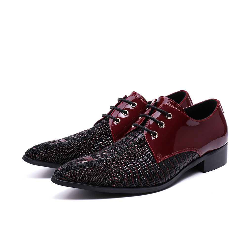 2019 1 Free Shipping style Genuine Leather Loafers Men leather shoes Men s Flats Men Metal